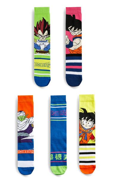 Lot de 5 paires de chaussettes Dragon Ball Z