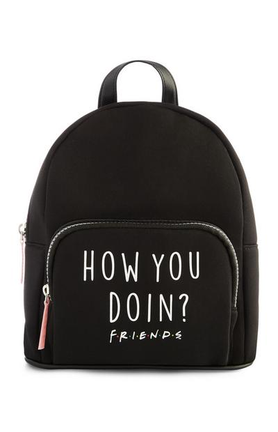 Friends TV Show Slogan Black Backpack