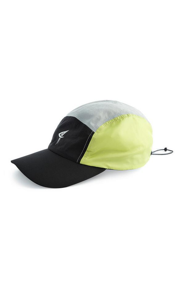 Črna in neonska kapa s 5 barvnimi bloki