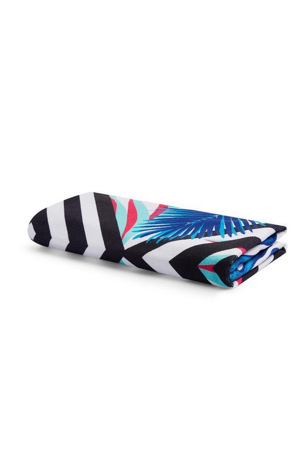 Blue Microfibre Beach Towel