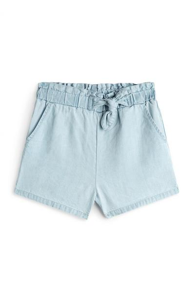 Younger Girl Light Blue Denim Shorts