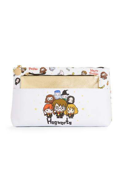 White Harry Potter Make-Up Bag And Extra Pouch