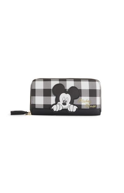 Black And White Mickey Mouse Check Purse