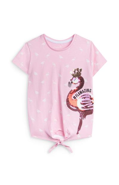 Younger Girl Pink Flamingo T-Shirt