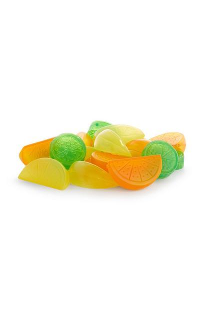 Herbruikbare ijsklontjes in de vorm van citrusvruchten