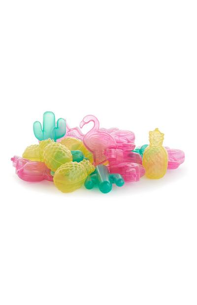Flamingo And Pineapple Shaped Resuable Ice Cubes