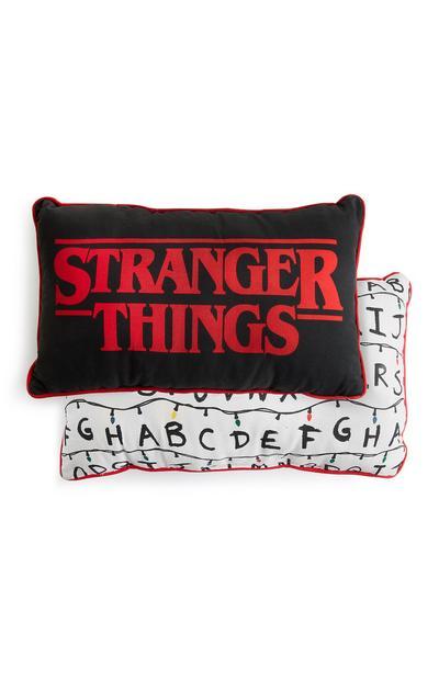 Stranger Thing Black Rectangle Cushion