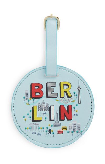 Blauw bagagelabel Berlin