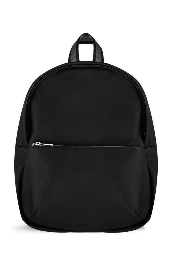 Black Front Zip Backpack