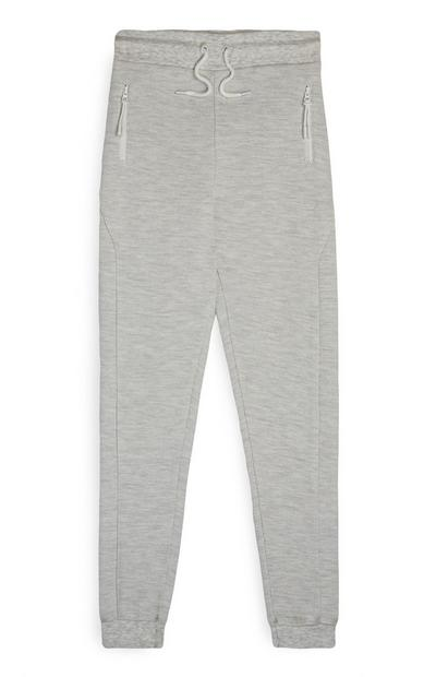 Older Boy Gray Pique Joggers