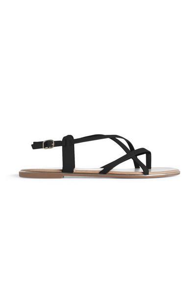 Zwarte sandalen met bandjes