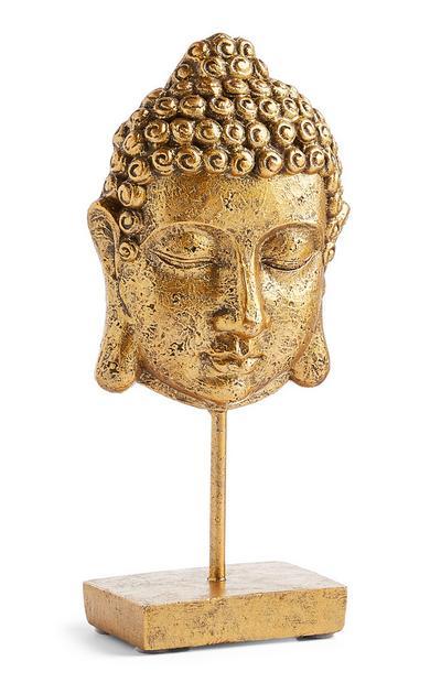 Cabeça de Buda decorativa dourado