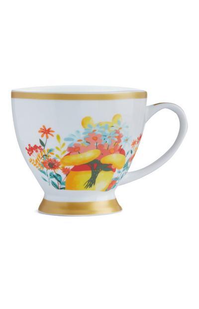 Winnie The Pooh White Ornate Mug