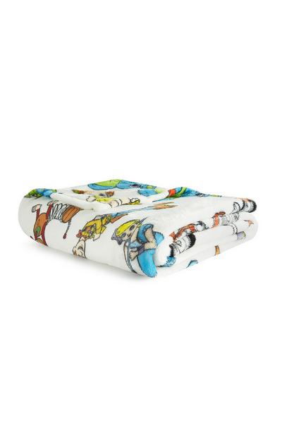 Toy Story Characters White Throw
