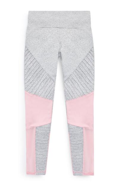 Pinke und graue Trainingsleggings (Teeny Girls)