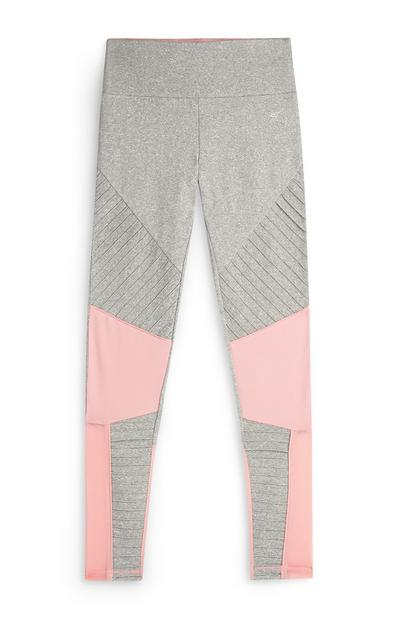 Older Girl Active Co-Ord Grey Coral Legging