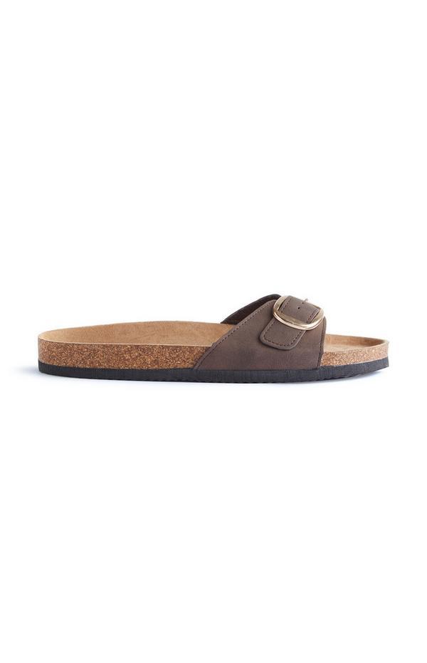 Brown Footbed Sandals