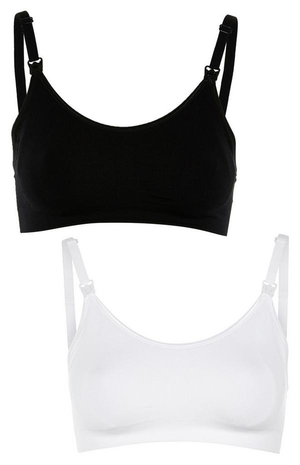 2-Pack Maternity Black and White Bras