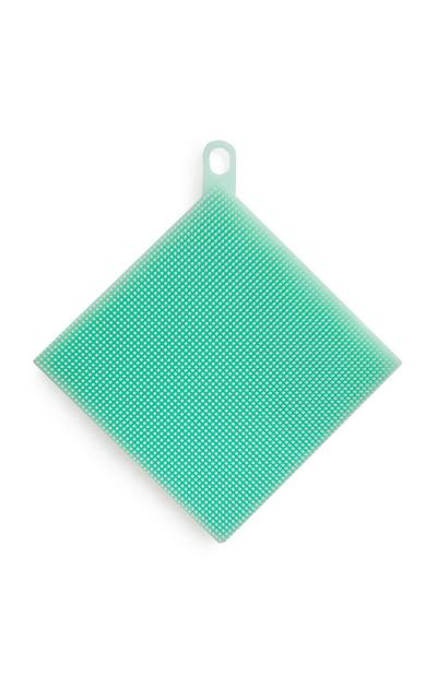 Brosse nettoyante en silicone turquoise