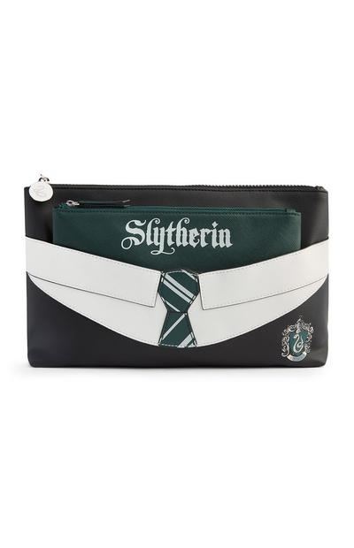 Trousse de toilette Harry Potter Slytherin verte 2 en 1