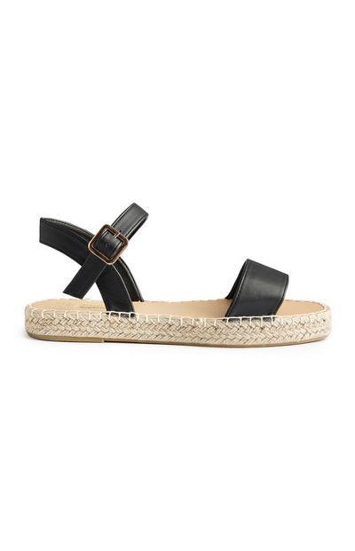 Zwarte sandalen met enkelbandje