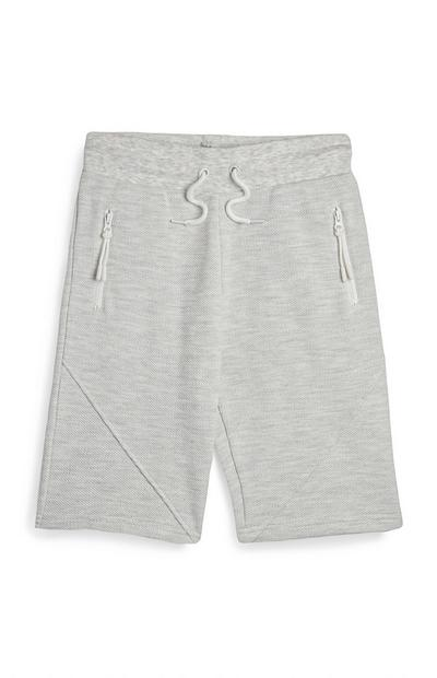 Older Boy Grey Pique Shorts