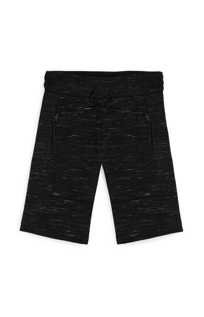 Shorts neri a coste da bambino