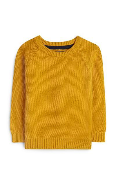 Baby Boy Mustard Yellow Knit Jumper