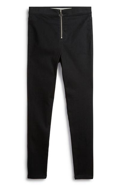 Zwarte jeans met hoge taille voor meiden