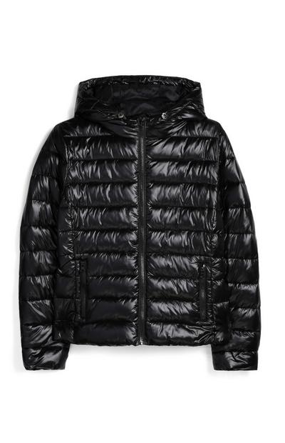 Black Zip Up Puffer Jacket