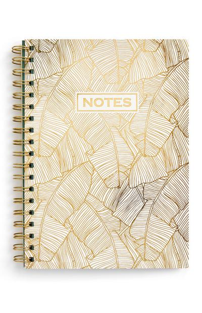 Black and Gold B5 Palm Leaf Notebook
