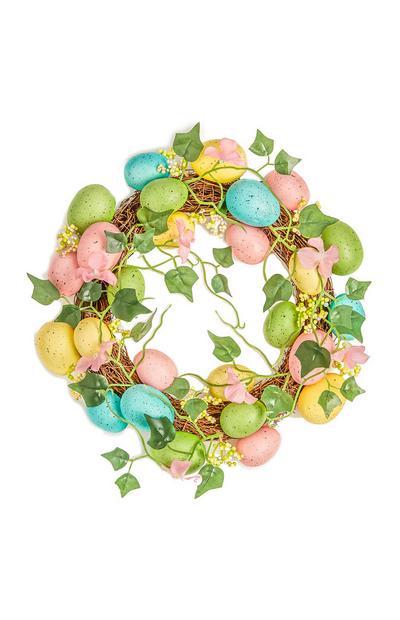 Leafy Easter Egg Wreath Decoration
