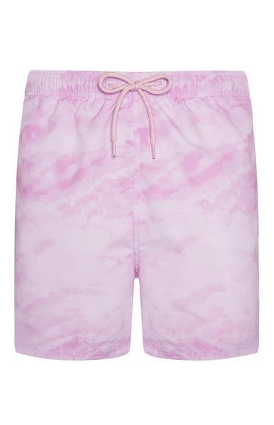 Bañador rosa con estampado tie-dye