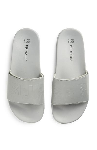 White Superb Slogan Slides
