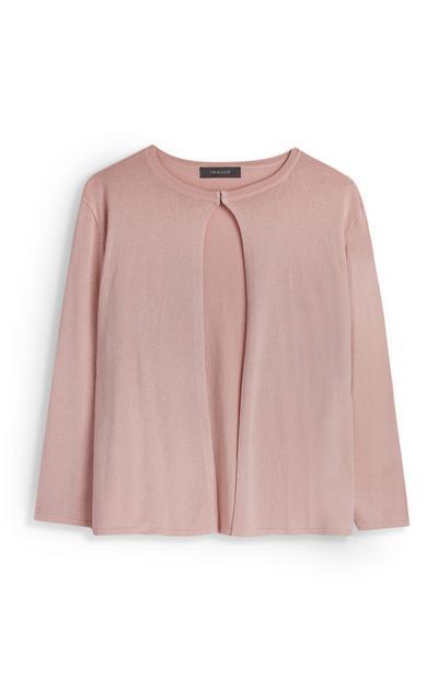 Roze vest met clip