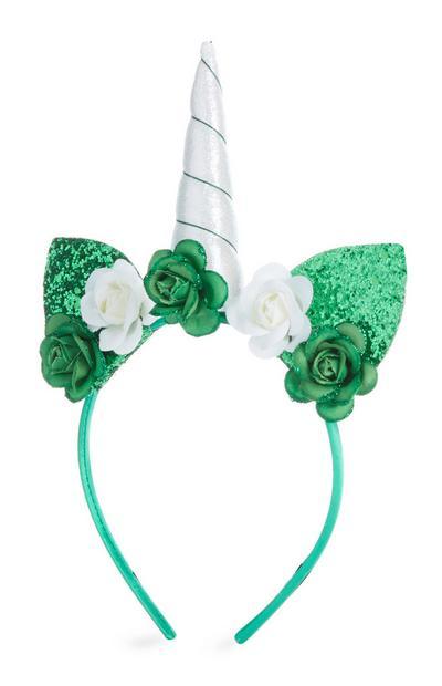 Green St. Patrick's Day Unicorn Headband