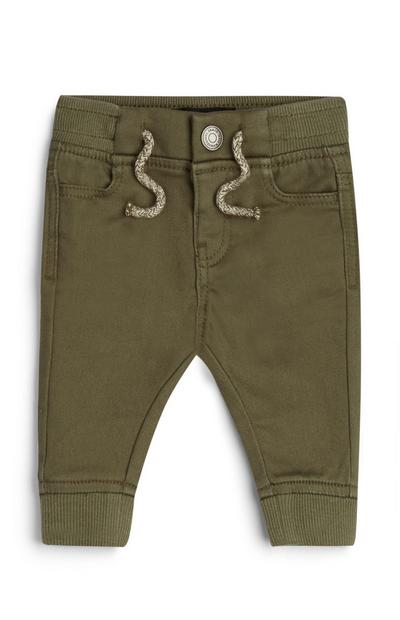 Baby Boy Khaki Cuffed Leg Pants
