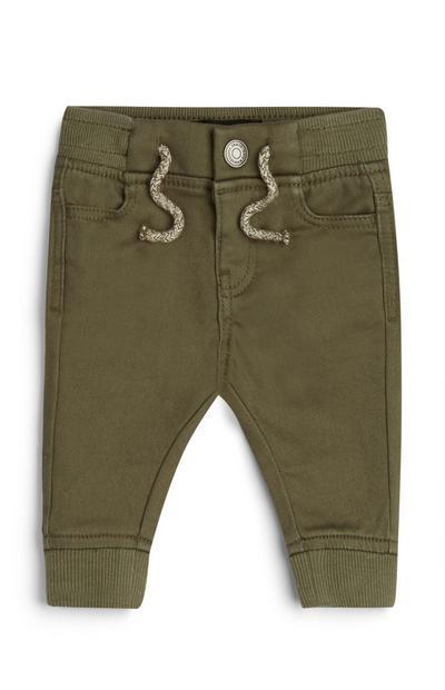 Baby Boy Khaki Cuffed Leg Trousers