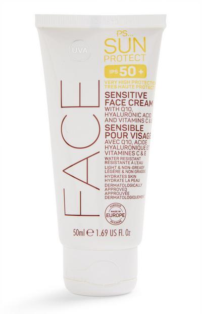 PS Sun Protect gezichtscrème voor gevoelige huid, SPF 50