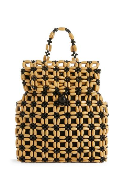 Wooden Beaded Backpack