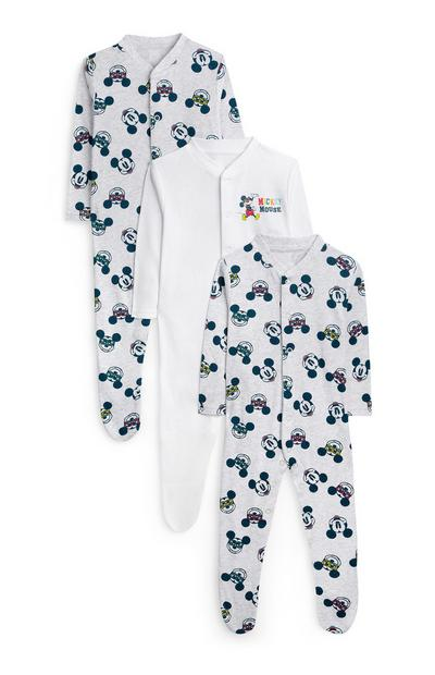 Baby Boy Mickey Mouse Babygrow 3Pk