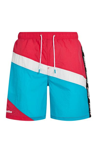 Red White And Blue Lotto Swim Shorts