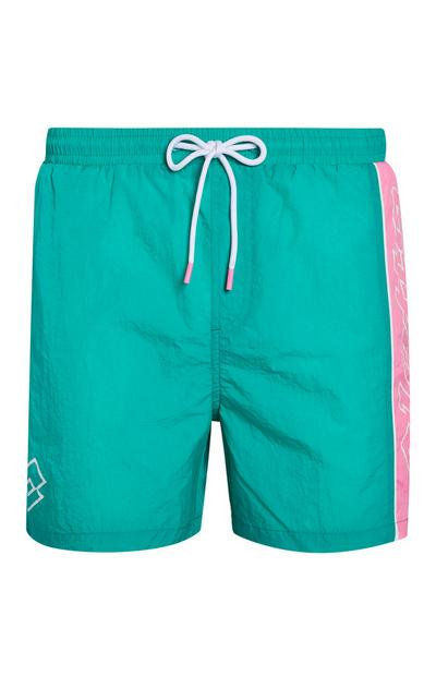 Green Lotto Swim Shorts