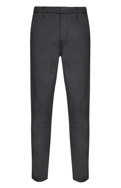 Pantalon slim stretch gris