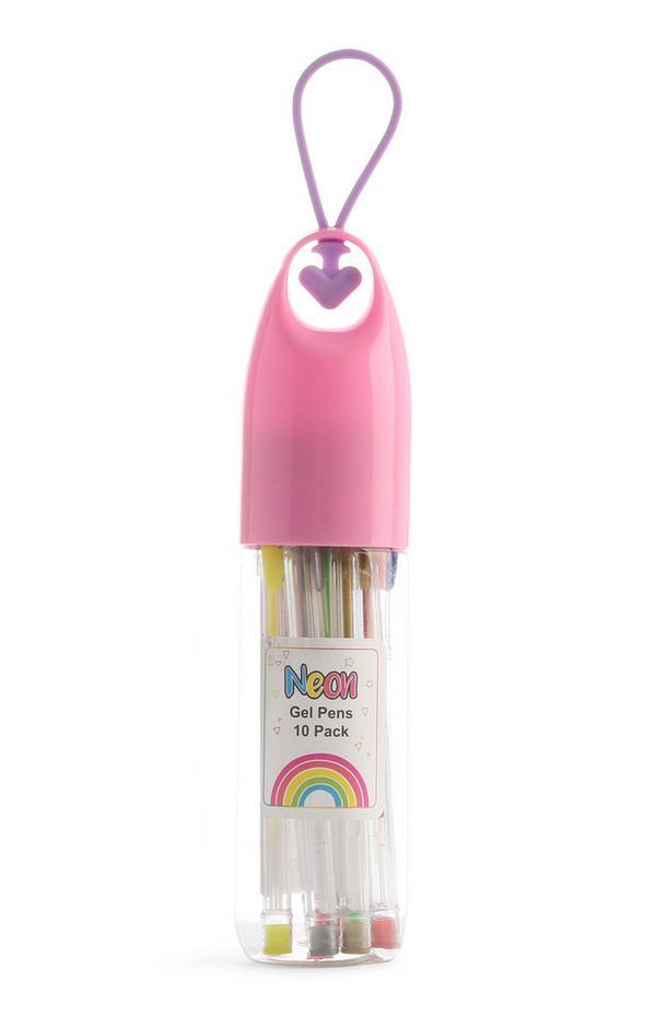 Pack 10 canetas gel Neon