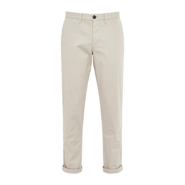 Pantalon chino écru slim et stretch