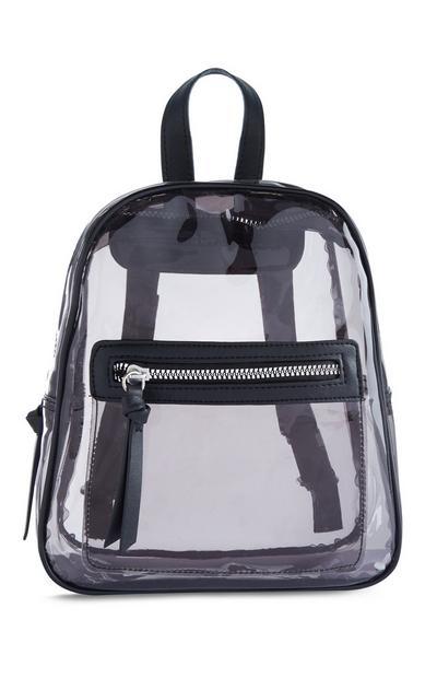 Black Transparent Backpack