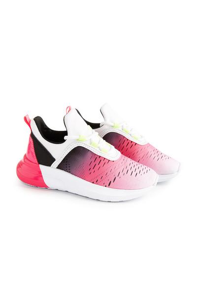 Younger Girl Contrast Pink Trainers