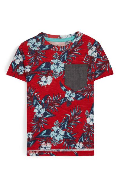 Baby Boy Red Floral T-Shirt