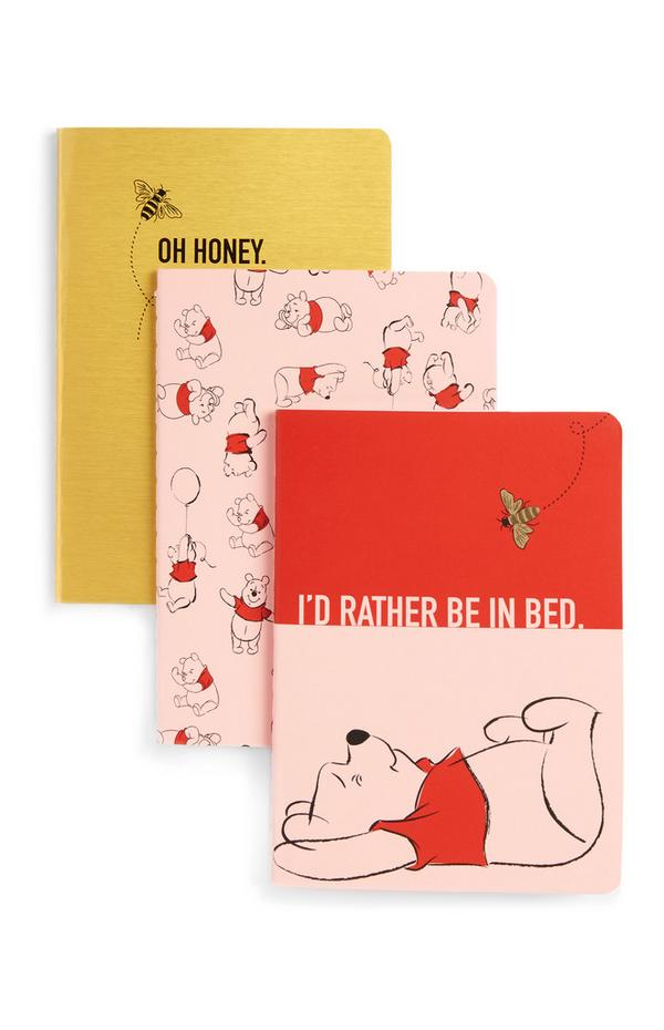 Notitieboekjes Winnie de Poeh, set van 3
